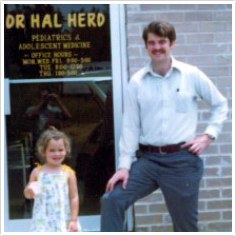 Dr. Herd and daughter 3 yr. old Shannon